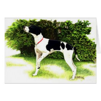 English Pointer Dog Portrait Blank Greeting Card