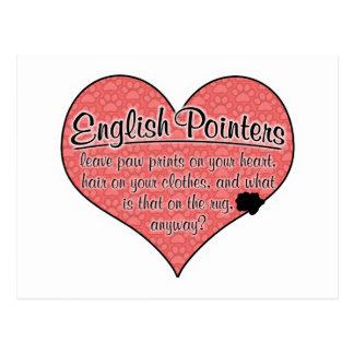 English Pointer Paw Prints Dog Humor Postcard