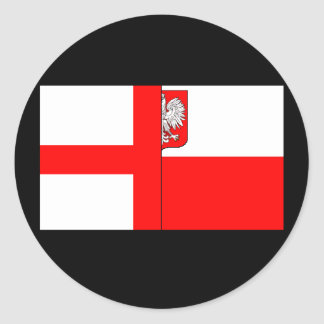 English/Polish Design Classic Round Sticker