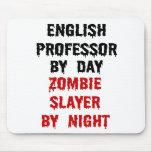 English Professor Zombie Slayer Mouse Pad
