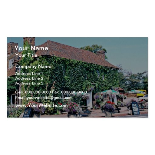 English pub in the village of Matfield, Kent, Engl Business Card Templates