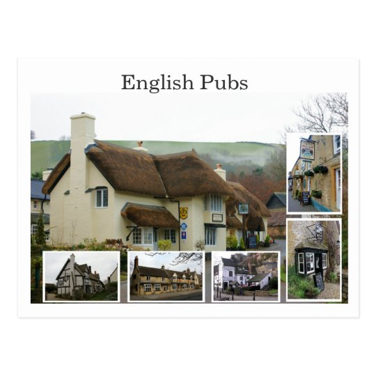 English Pub Scenes - Customised - Customised Postcard