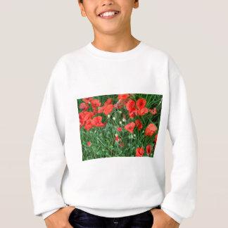 English red poppys sweatshirt