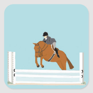 English rider and Horse Stickers! Square Sticker