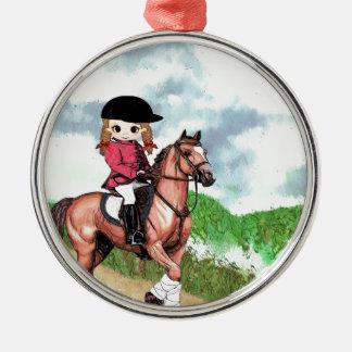 English Riding Girl Christmas Ornament