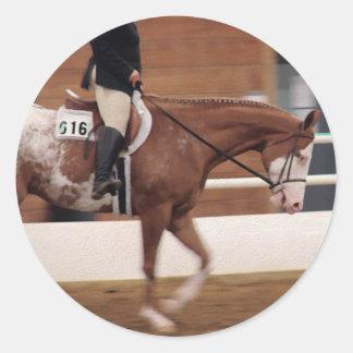 English Riding Round Sticker