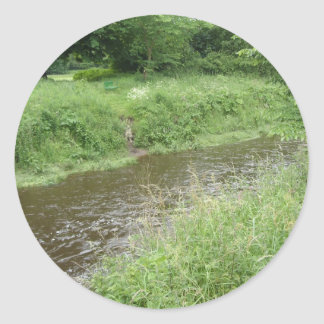 English River Classic Round Sticker