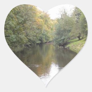 English river heart sticker