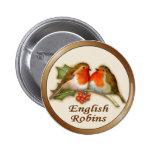 English Robins 6 Cm Round Badge