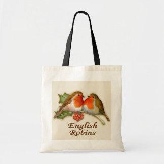 English Robins Budget Tote Bag