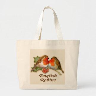 English Robins Tote Bags