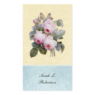 English Rose Botanical Personalized Business Cards