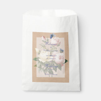 English Rose Butterfly Garden Wedding Favour Bags