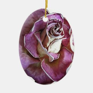 English Rose Ceramic Oval Decoration