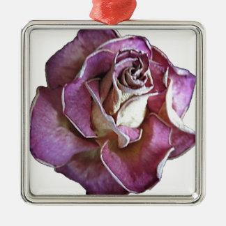 English Rose Christmas Ornament