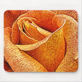 English Rose Macro Floral flower Close Up Petals Mouse Mat