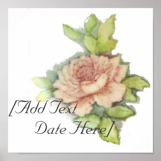 English Rose Poster-Customise Poster