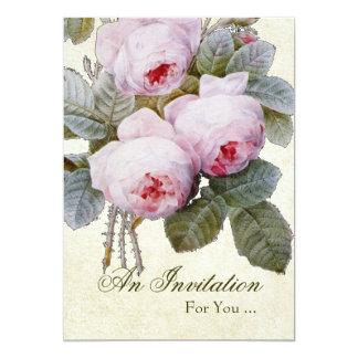 English Rose Retirement Party 13 Cm X 18 Cm Invitation Card