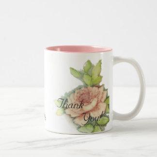 English Rose Thank You Mug-Customize Two-Tone Mug