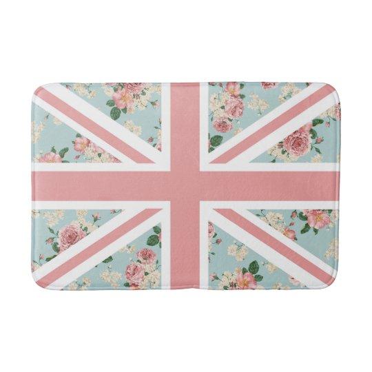 English Roses Union Jack Flag Bath Mat