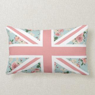 English Roses Union Jack Flag Lumbar Cushion