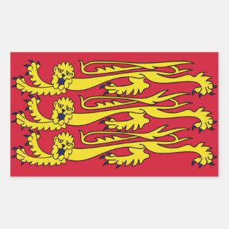 English Royal Banner Rectangular Sticker