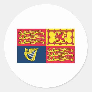 English Royal Standard Classic Round Sticker