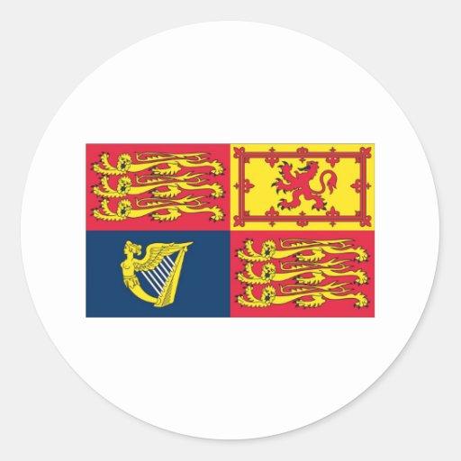 English Royal Standard Round Sticker