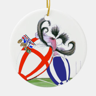english rugby ball, tony fernandes christmas ornament