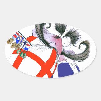 english rugby ball, tony fernandes oval sticker