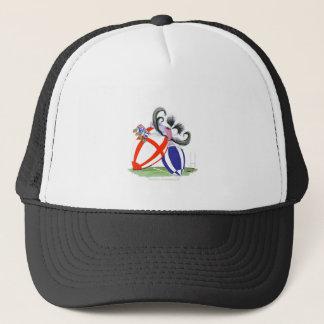 english rugby ball, tony fernandes trucker hat