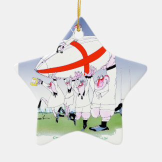 english rugby cheers, tony fernandes ceramic star decoration