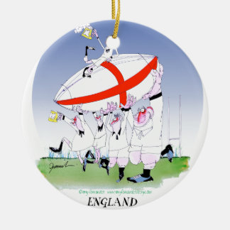 english rugby cheers, tony fernandes round ceramic decoration