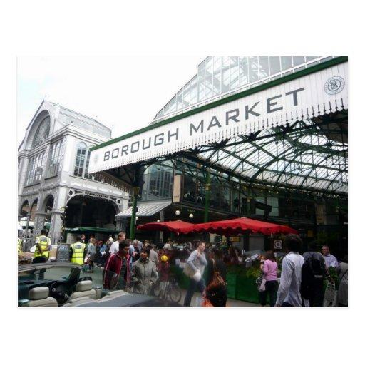 English Scenes, Borough Market, London Post Card