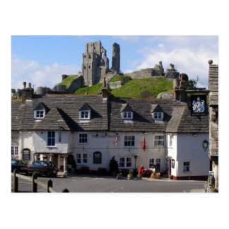 English Scenes, Corfe Castle, Dorset Postcard