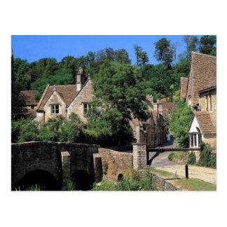 English Scenes, Corfe Castle village, Dorset Postcard