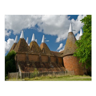 English Scenes, Oast Houses in Kent Postcard