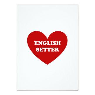 English Setter 13 Cm X 18 Cm Invitation Card