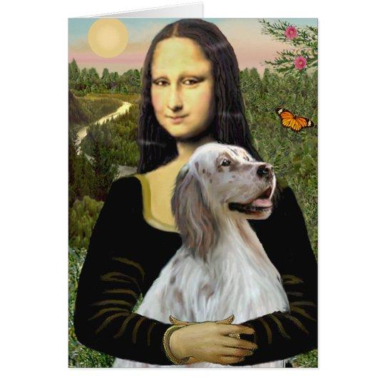 English Setter 1 - Mona Lisa Card