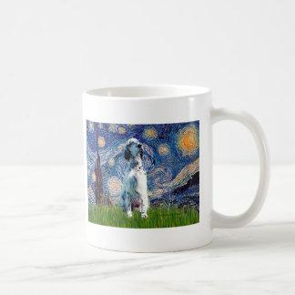 English Setter (BW) - Starry Night Basic White Mug