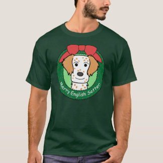 English Setter Christmas T-Shirt