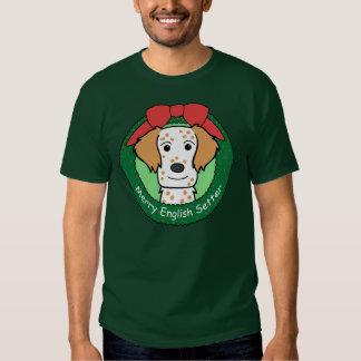 English Setter Christmas Tee Shirt