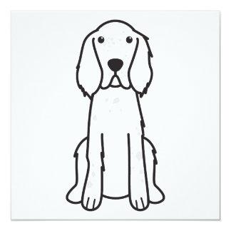 English Setter Dog Cartoon 13 Cm X 13 Cm Square Invitation Card