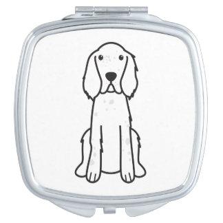 English Setter Dog Cartoon Travel Mirror