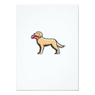 English Setter Dog Deflated Volleyball Circle Retr 11 Cm X 16 Cm Invitation Card
