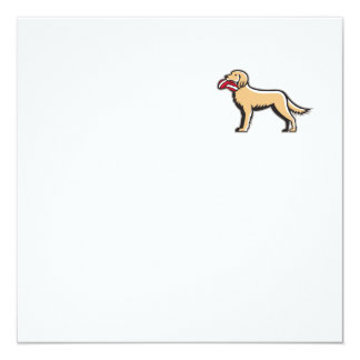 English Setter Dog Deflated Volleyball Circle Retr 13 Cm X 13 Cm Square Invitation Card