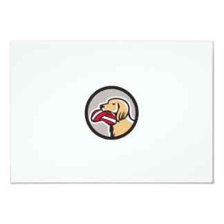 English Setter Dog Head Deflated Volleyball Circle 9 Cm X 13 Cm Invitation Card