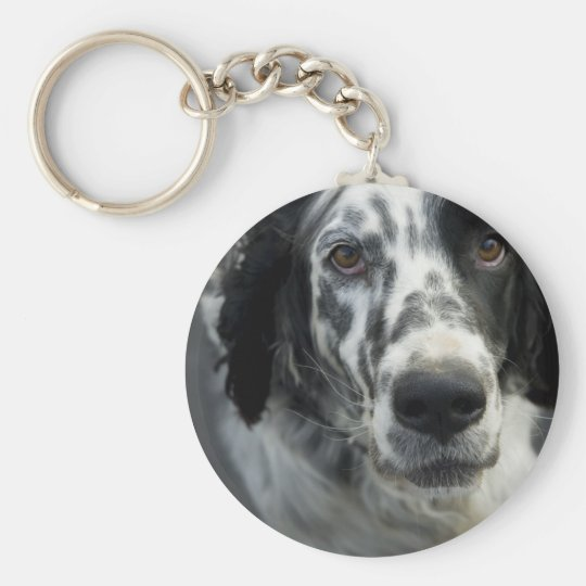 English Setter Dog Keychain