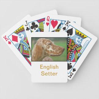 English Setter Dog Playing Cards