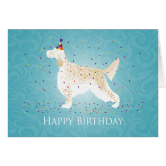 English Setter Happy Birthday Design Card